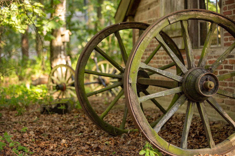 木製の車輪